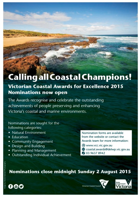 2015 Victorian Coastal Awards for Excellence poster link